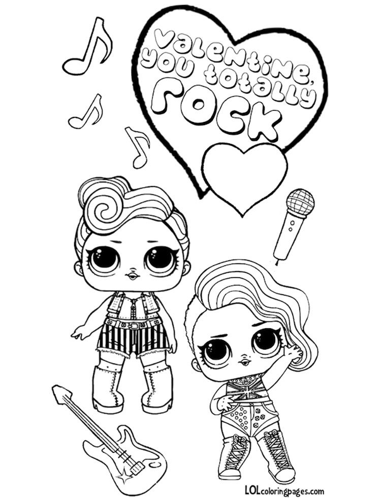 Lol Surprise Doll Valentines Coloring Page Valentine Coloring Pages Valentine Coloring Valentines Day Coloring Page