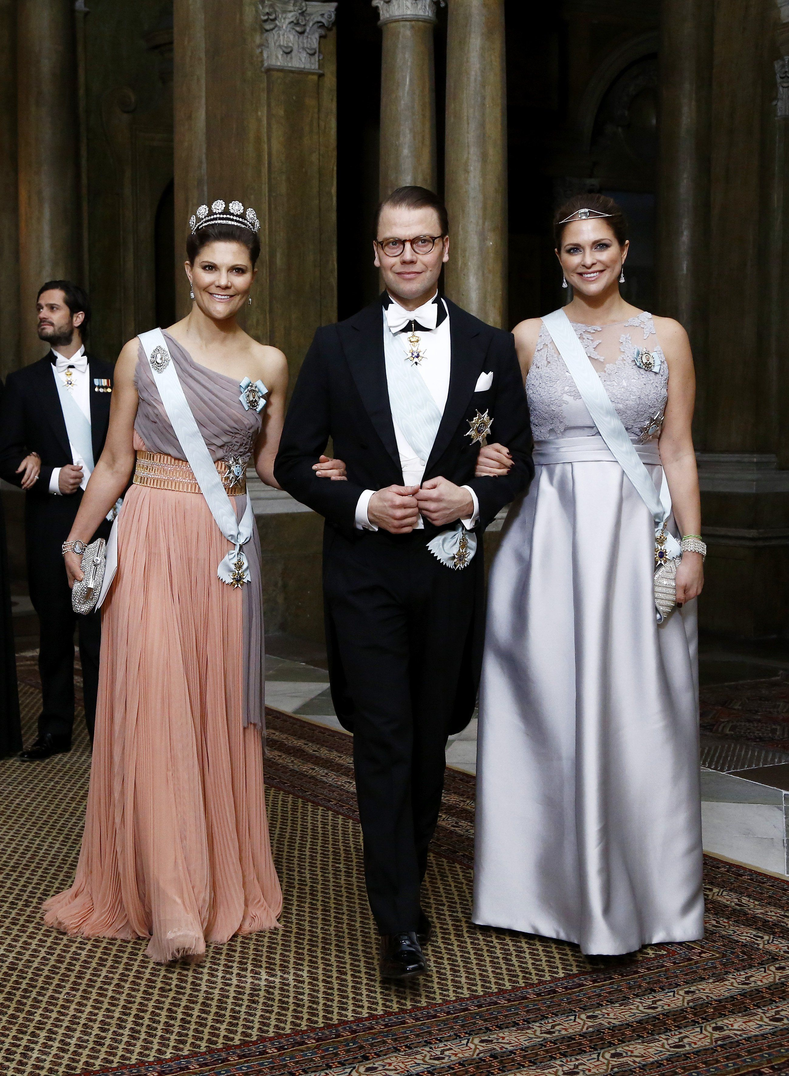 Crown Princess Victoria in a repeat dress by Escada and ...