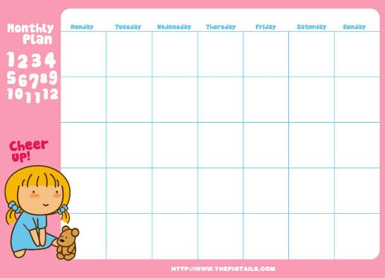 Calendar Templates  Printables    Papercraft Kawaii