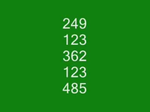 Choosing a Pick 3   OR   Pick 4  number to play    Use XXX + 123 for 3 digit numbers  &  XXXX + 1234 for 4 digit numbers    Take one of your favorite 3 digit numbers OR a 3 digit number that you dreamed  OR     Take the winning number for today and add 123 to the winning number. (add in column form and do not carry over)    Take the sum total an...