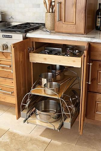 Mid Continent Cabinetry Pots Pans Pull Out Custom Kitchen Cabinets Kitchen Cabinet Accessories Free Kitchen Cabinets