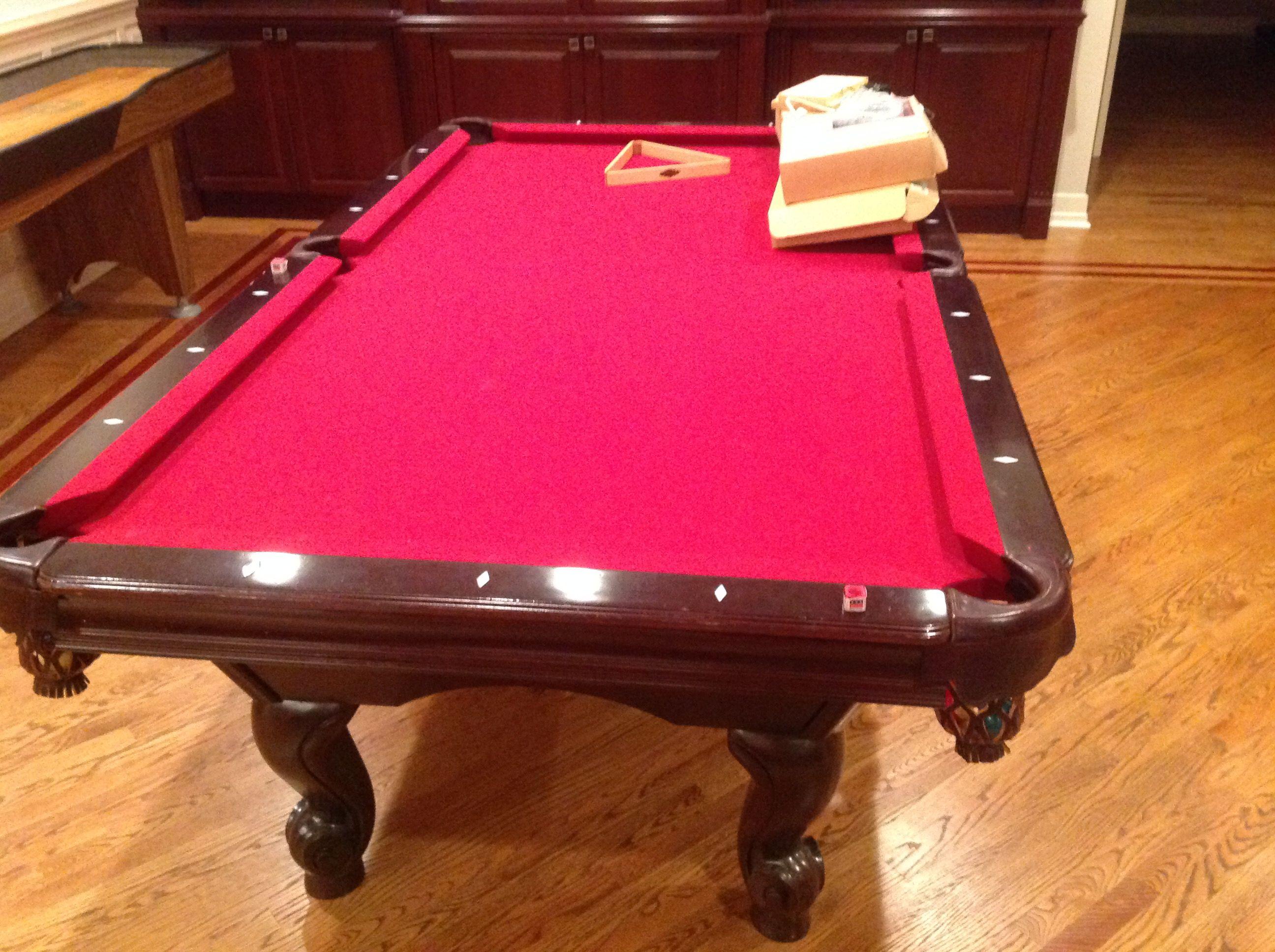 Brunswick Billiards Solid Wood Pool Table 8u0027 Sold