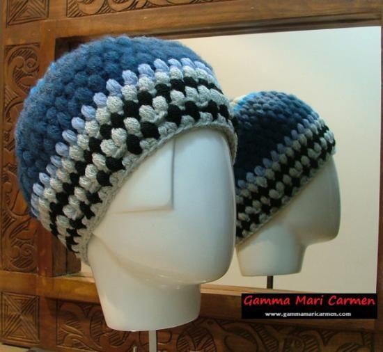 Artesanía y tendencias, gorro de lana original, ganchillo