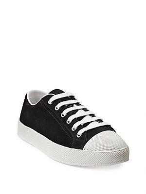 Prada Suede Low-Top Sneakers