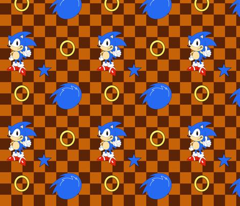 Sonic The Hedgehog Fabric Fabric By Louisalulu On Spoonflower Custom Fabric Custom Fabric Spoonflower Nursery Video