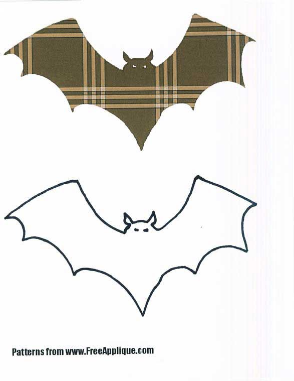 Free Animal Applique Patterns  Bat Pattern Bear Cub Pattern