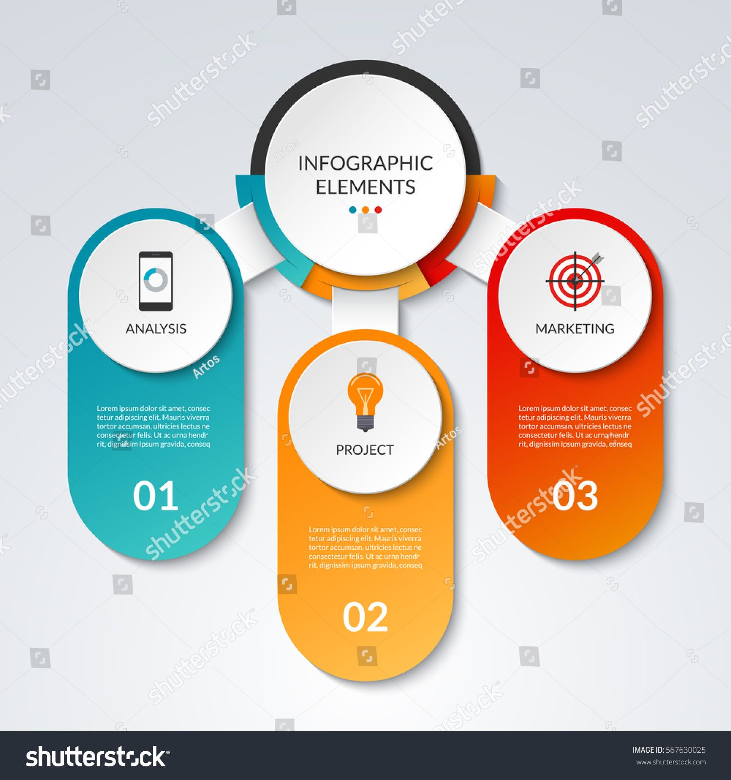Infographic template with 3 option circles and columns business infographic template with 3 option circles and columns business concept that can be used as cheaphphosting