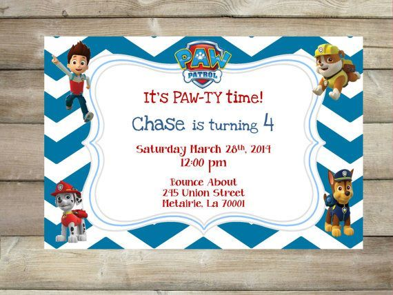 paw patrol birthday invitations google search