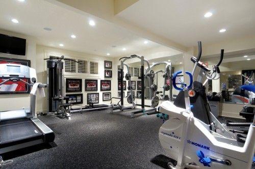 Exercise workout gym man cave ideas design image man cave