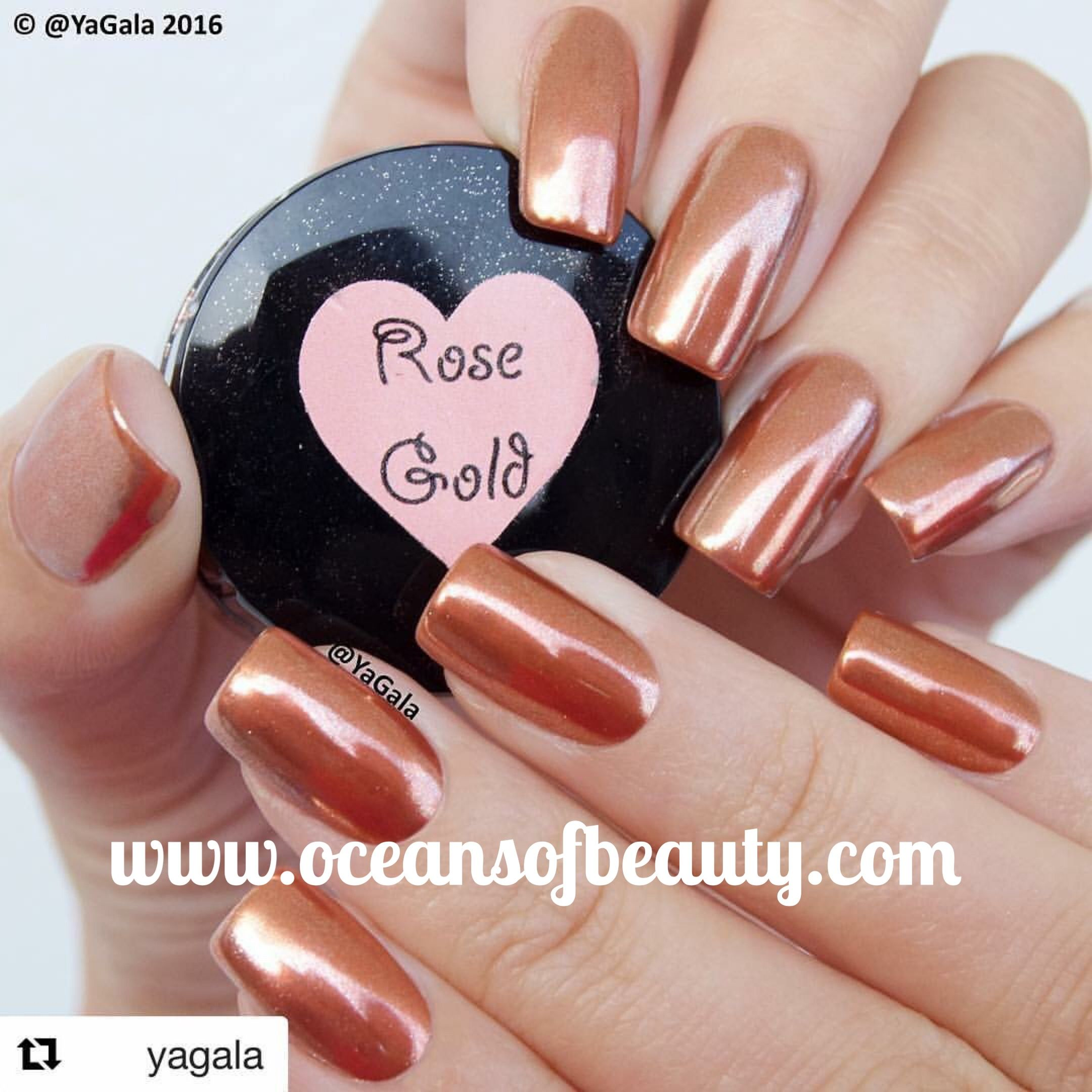 Rose Gold Powder from OceansofBeauty.com done by yagala from ...