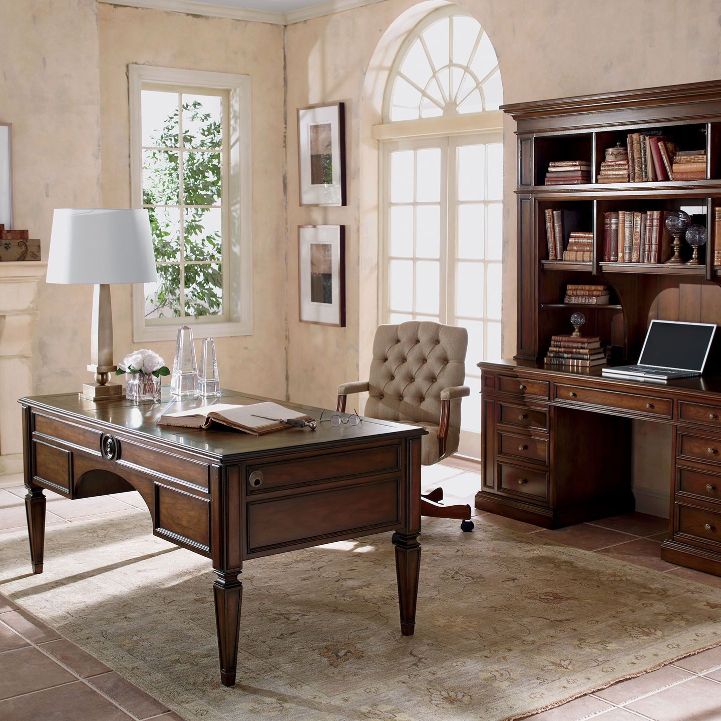 Buckley Leather Top Desk Home Office Decor Home Office Furniture Home