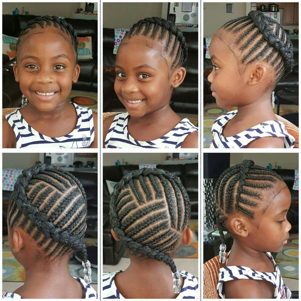 Braided Halo Little Girl Braid Styles Kids Braided
