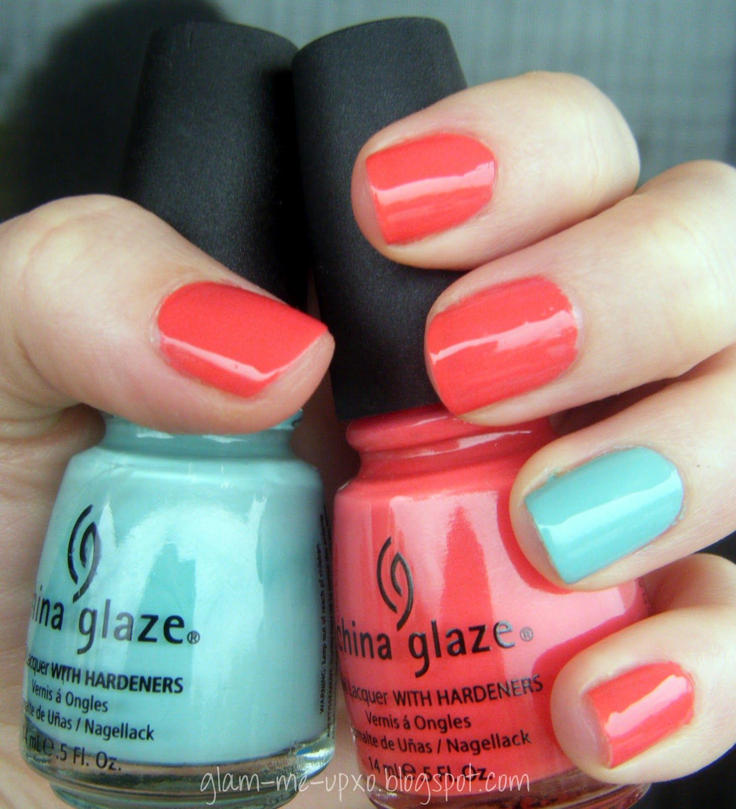 Nail Polish Combos/Color Blocking for Spring/Summer
