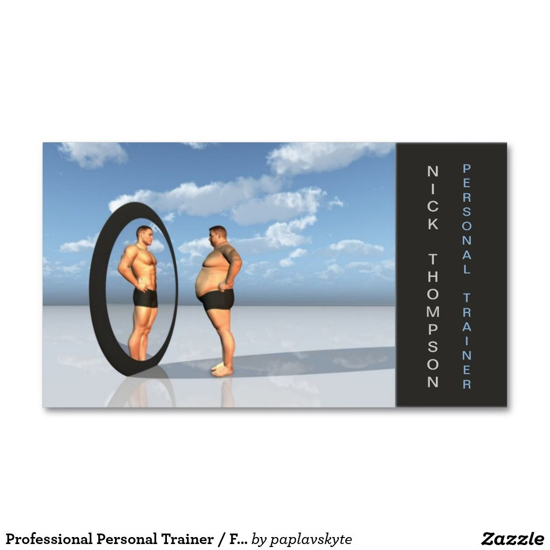 Professional Personal Trainer / Fitness Card Double-Sided Standard ...