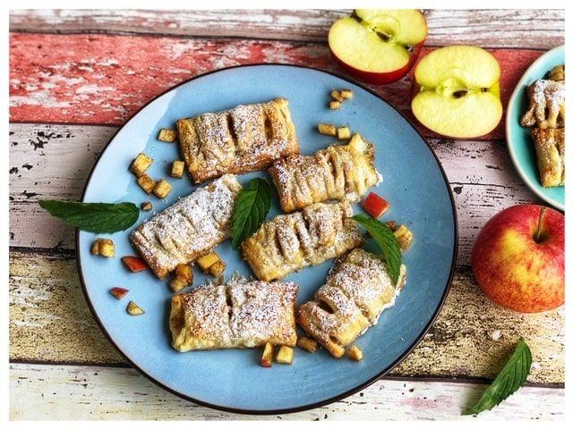 Warme Apfeltasche Blaetterteig Rezept mit Zimt l Was tun mit Aepfeln