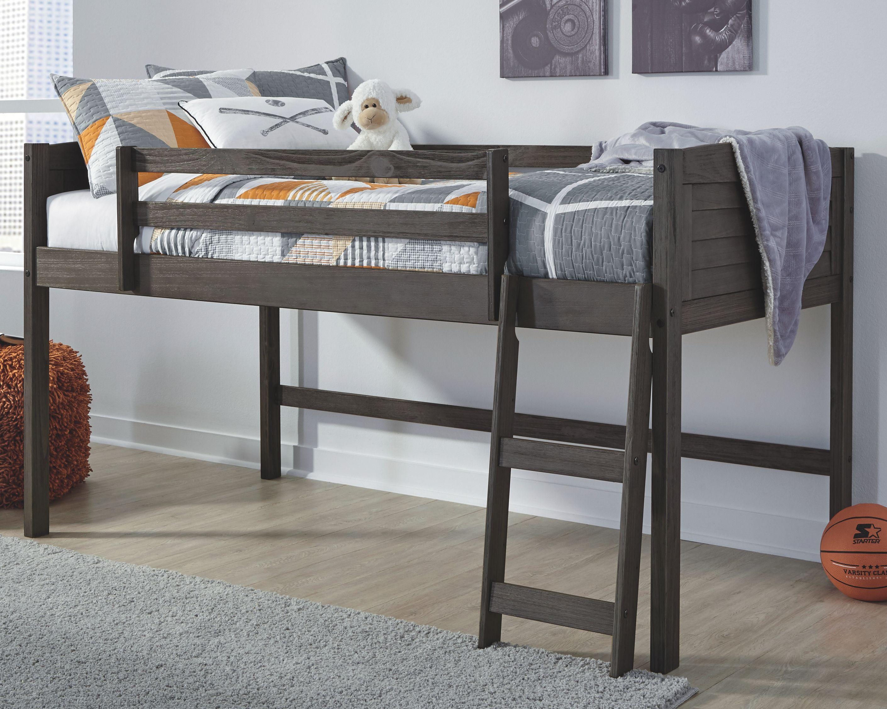 Caitbrook Twin Loft Bed Frame Gray Twin Loft Bed Loft Bed