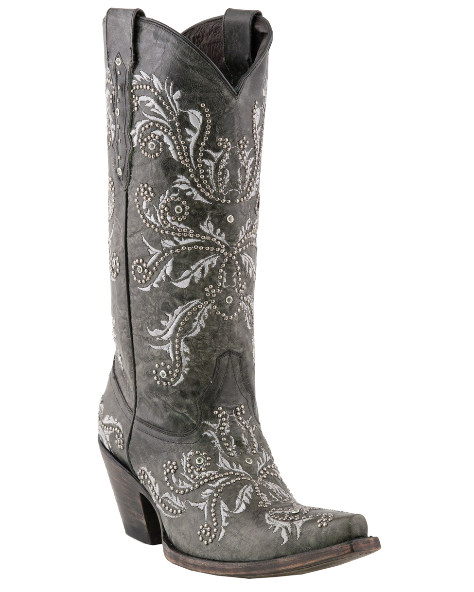 Vintage Embroidary Etched Cowgirl Boots | Receptions, Cowboys and ...