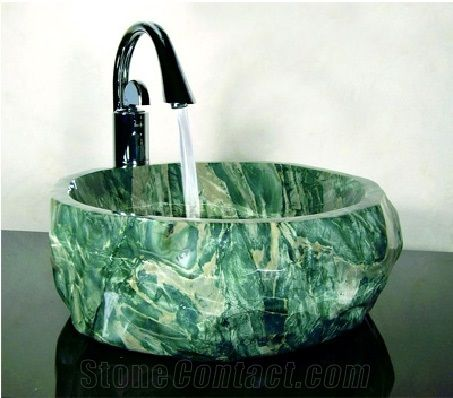 Stone Marble Sink, Plain Green Marble Sinks & Basins