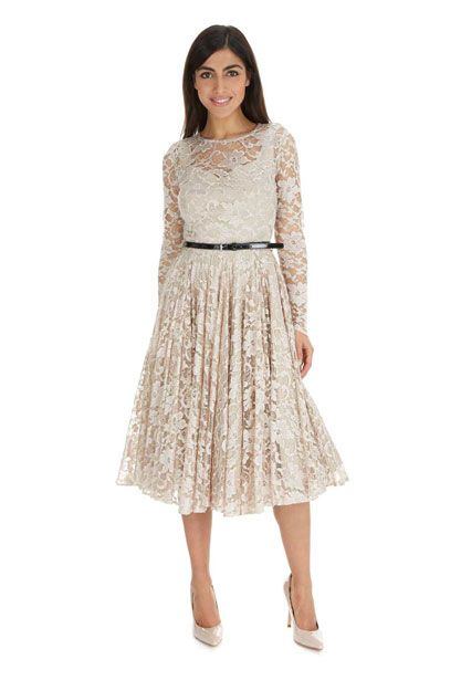 Champagne Lace Dress The Pretty Company Dresses Pencil Afternoon