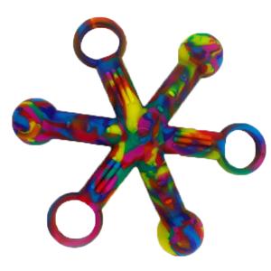 Tie Dye - Hexichew - fidget and chew toy!