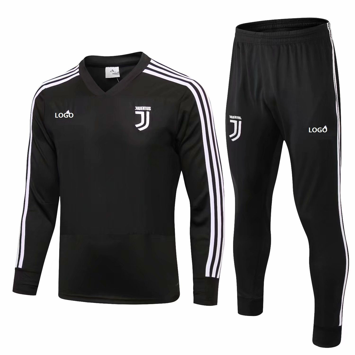 0784143f17d 2018 19 Men Juventus Black Training Tracksuits Adult Football Track Suit  Jacket