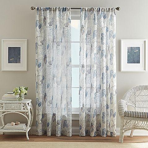 Bed Bath Beyond Aquarium Pole Top Window Curtain Panel In Blue Curtains Panel Curtains Elegant Curtains