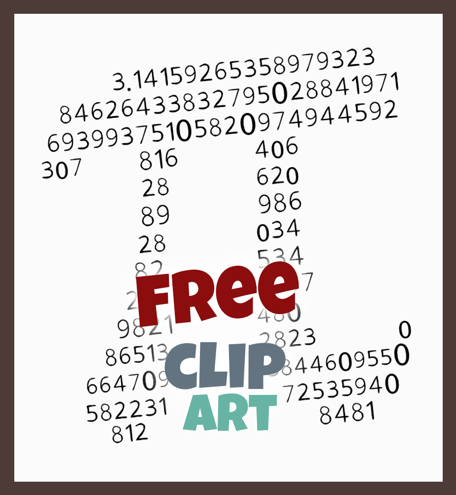 Pi Clip Art And Coloring Page Drawn With Digits Of P Pi Day Card Clip Art Free Teacher Resources Math Activities [ 1004 x 926 Pixel ]