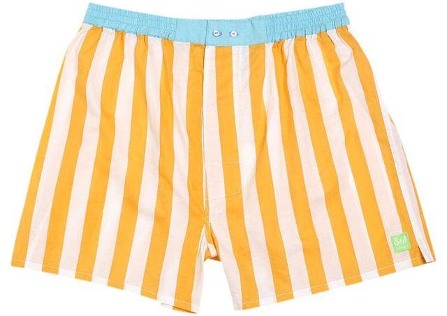Sant And Abel// Santorini Sunset Men's Boxer Shorts. #boxers #stripes #cotton