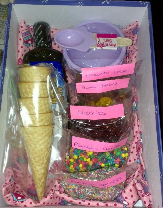 "My attempt add a ""just add ice cream"" gift box for my nieces"