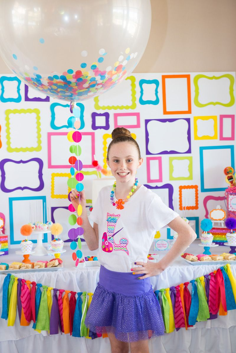 I LOVED styling my daughters Rainbow Art Party 10th Birthday I