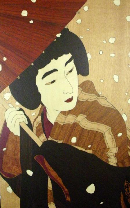 Peony Snowflakes  By Torii Kotondo, 1931 #Kotondo