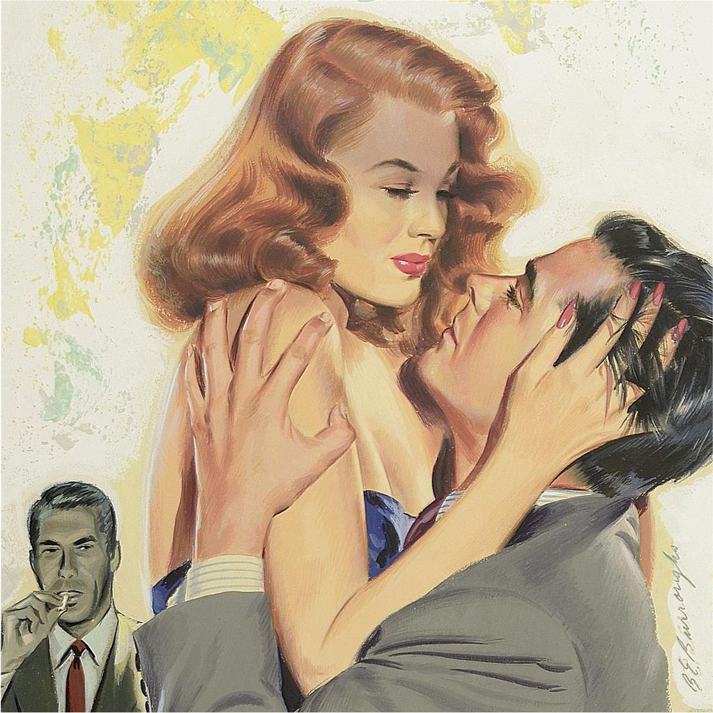 American Art - Bernard Burroughs: Love Triangle from American Art Exclusively on Ruby Lane