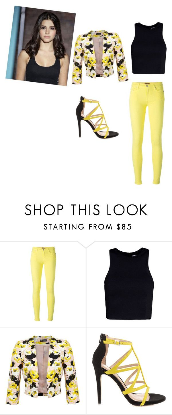"""""""Ana golja"""" by miahmichelle ❤ liked on Polyvore featuring 7 For All Mankind, T By Alexander Wang, Miss Selfridge, ALDO, degrassi and AnaGolja"""