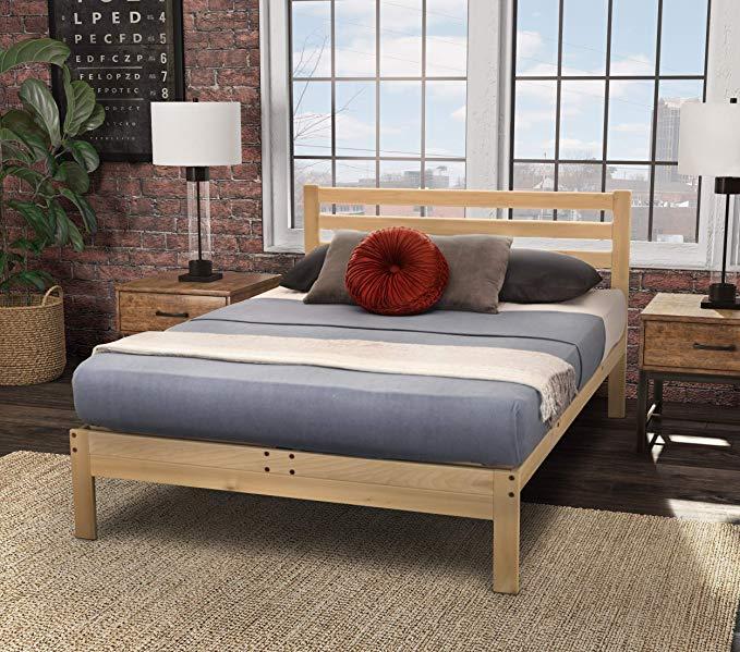 Amazon Com Kd Frames Lexington Platform Bed Full Unfinished