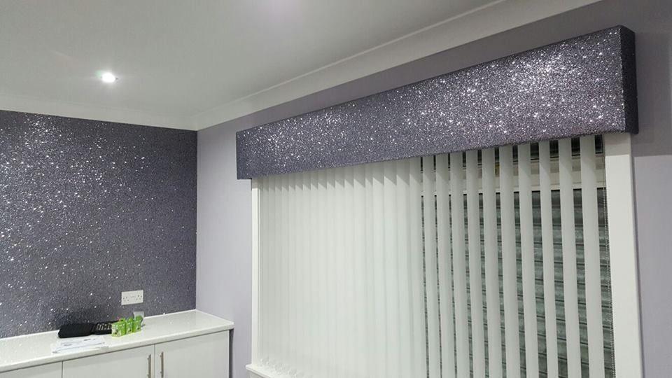 Grade 3 Glitter Boxed Padded Window Pelmet In Home