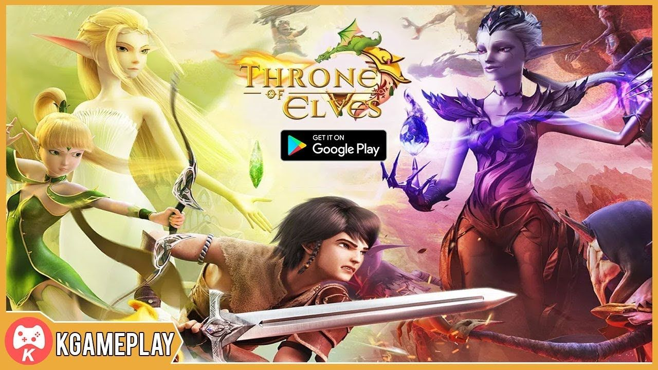 Throne of Elves 3D Anime Action MMORPG iOS Android