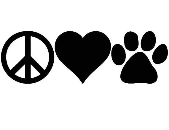 Download Peace love dogs. Peace love cats. Love Dogs Car Decal. Dog ...