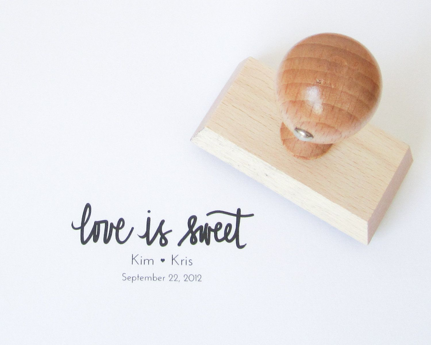 Personalized Wedding Calligraphy Stamp    #calligraphy