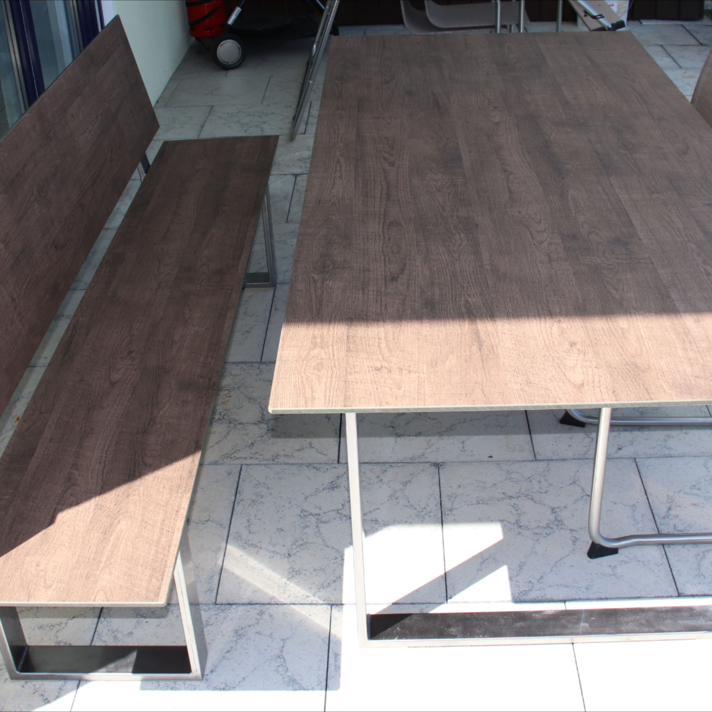 Garten Tisch Outdoormobel Hpl Tisch Loft Brown 10mm Hpl Platten Loft Tisch