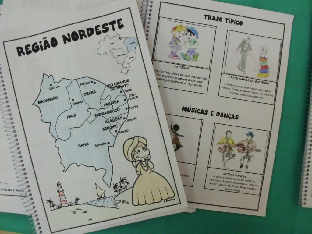 Feira de Iniciação Científica. Temática: Regiões do Brasil Álbum de figurinhas