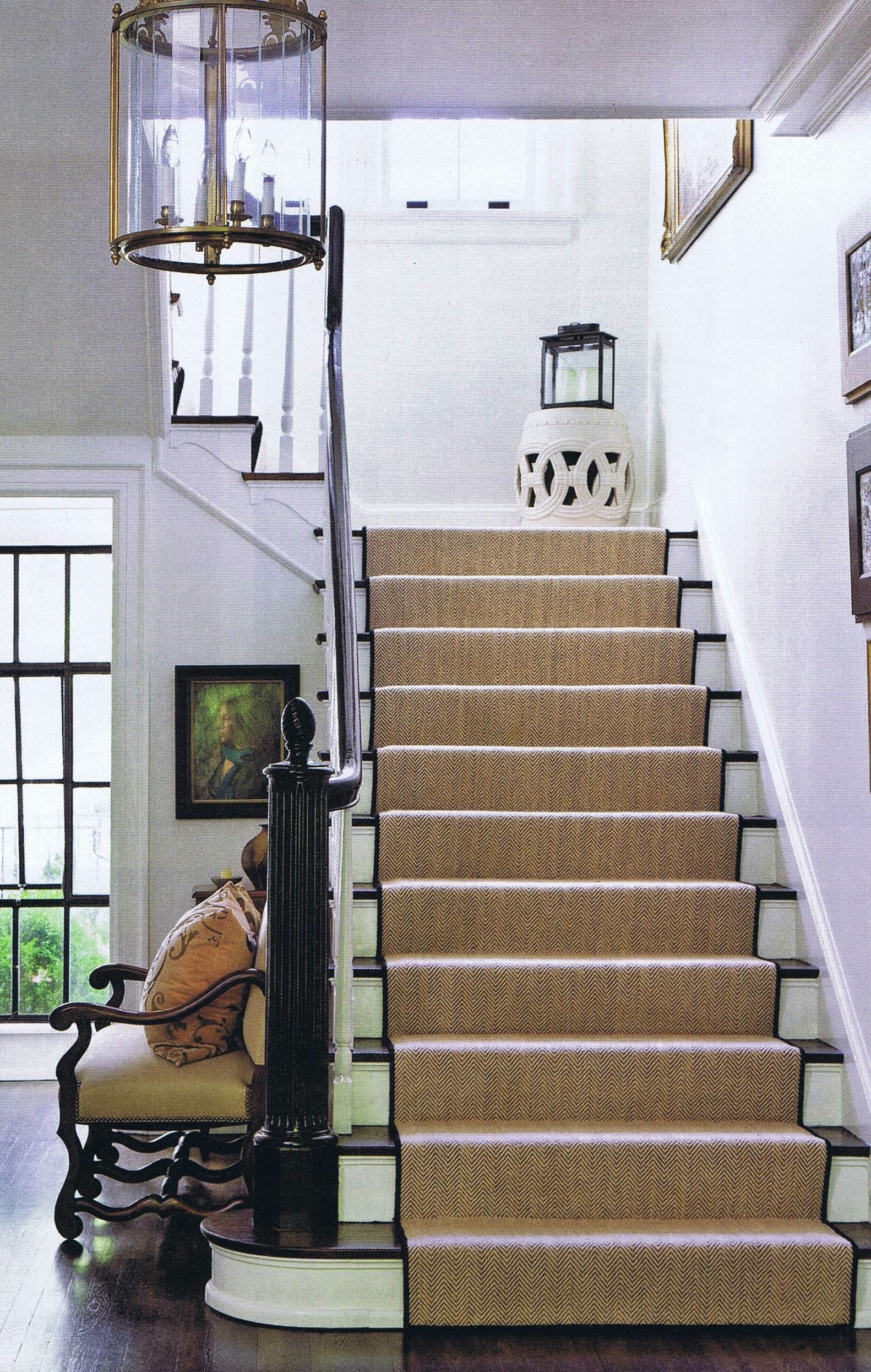 Escalera Hogar Stair Runner And Stool Top Of Stairs Escaleras Y