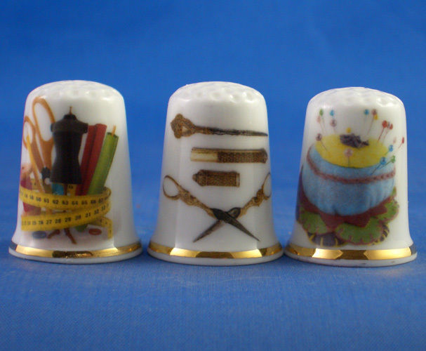 Birchcroft Thimbles Set of Three Sewing Tools Collection