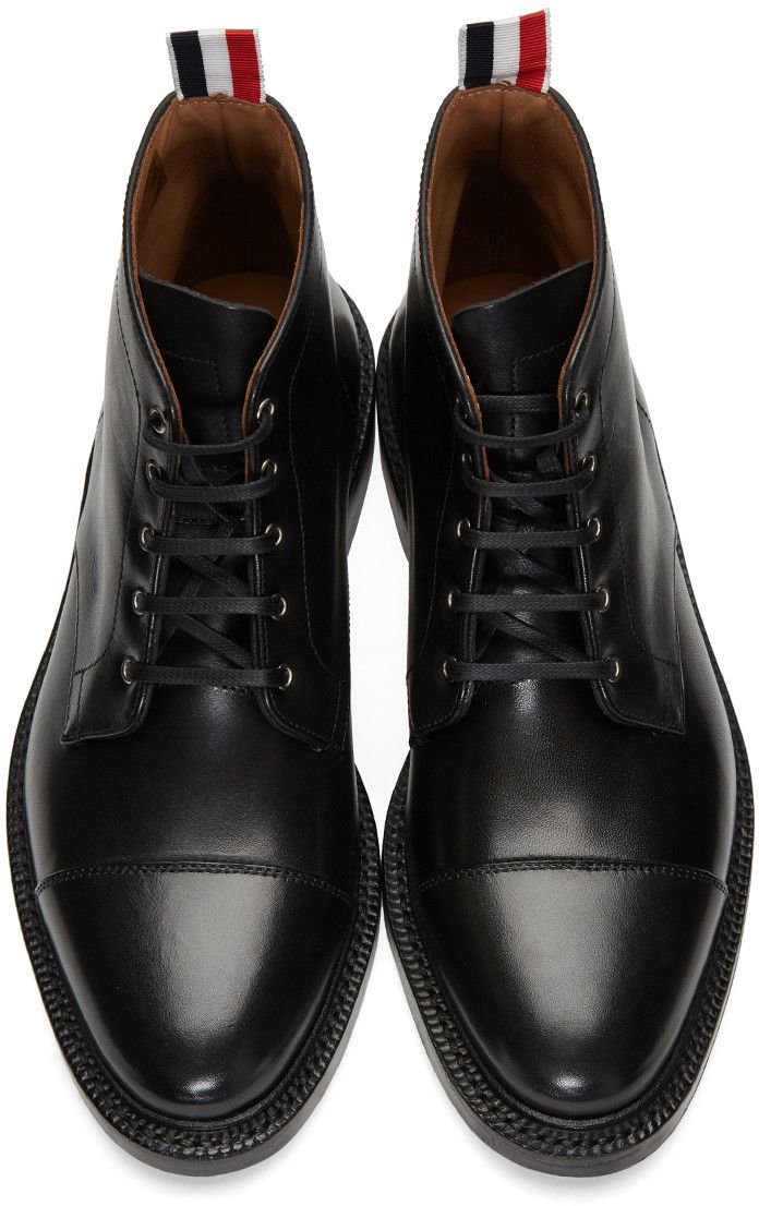 Black Cropped Derby Boots Thom Browne Sast For Sale Free Shipping Enjoy Low Cost Online Discount Marketable Get To Buy o7yssRaBE