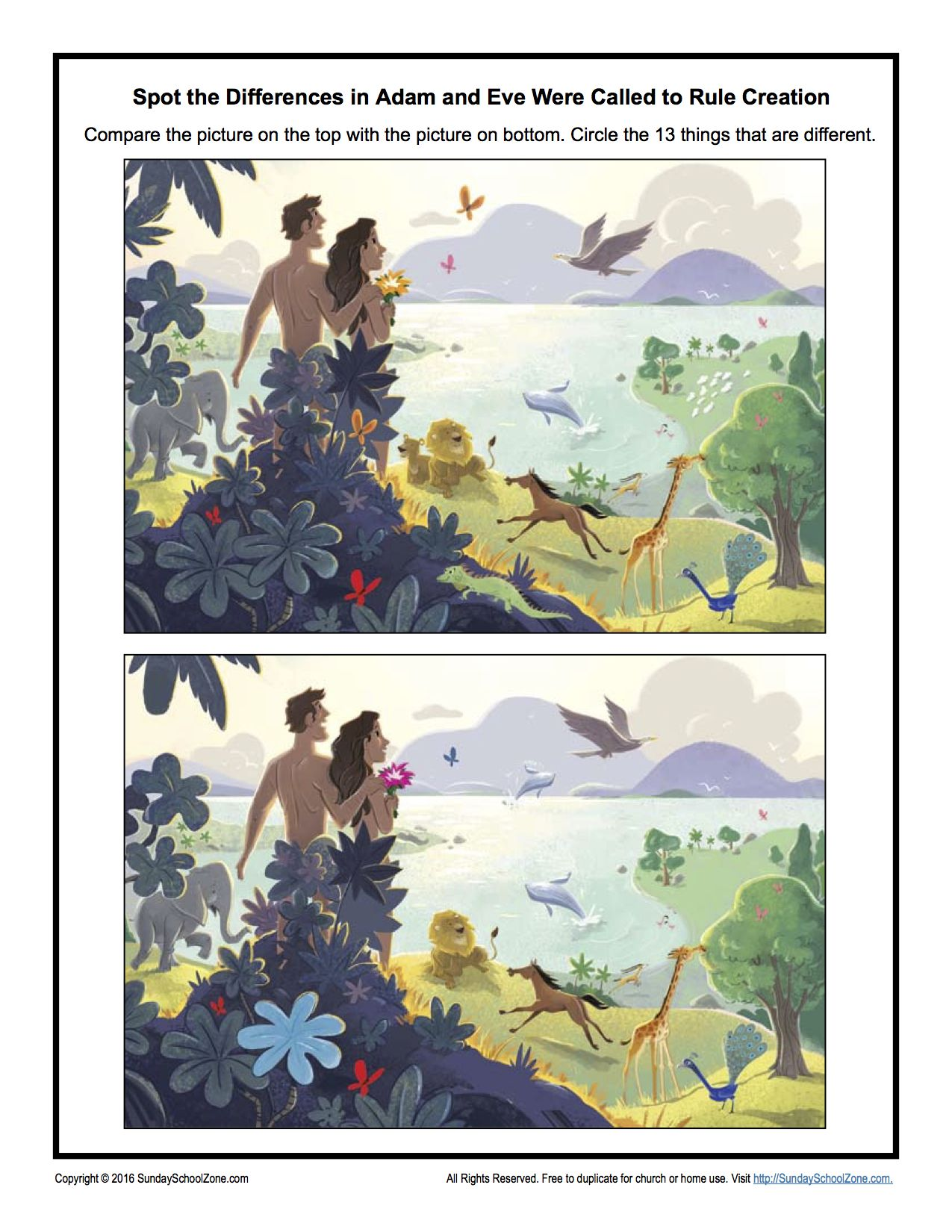 Adam And Eve Were Called To Rule Creation Spot The Differences