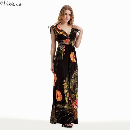 582dc5f3150 2017 Womens Summer Elegant Vintage Boho Beach Clothing Ladies Bohemian Print  Maxi Long Dress Plus Size 5XL 6XL Vestidos