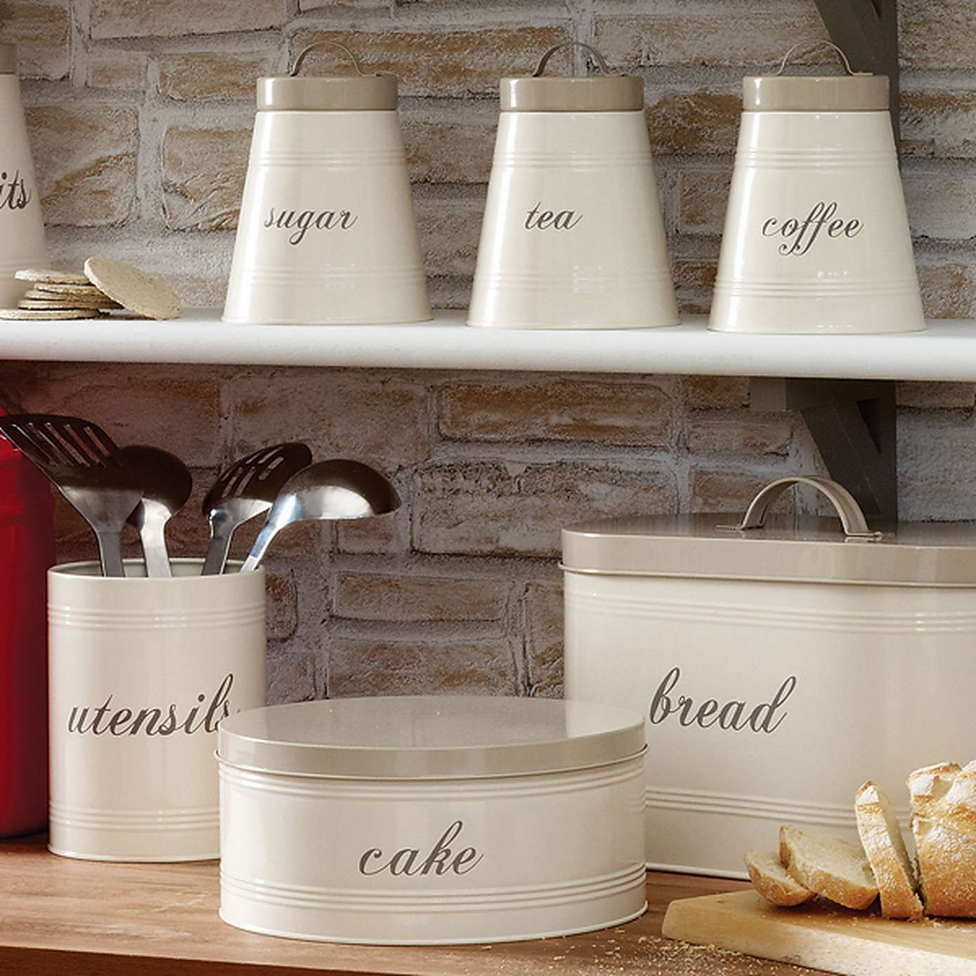 Farmhouse Tea Storage Canister With Images Farmhouse Kitchen Canisters Kitchen Canisters Coffee Canister