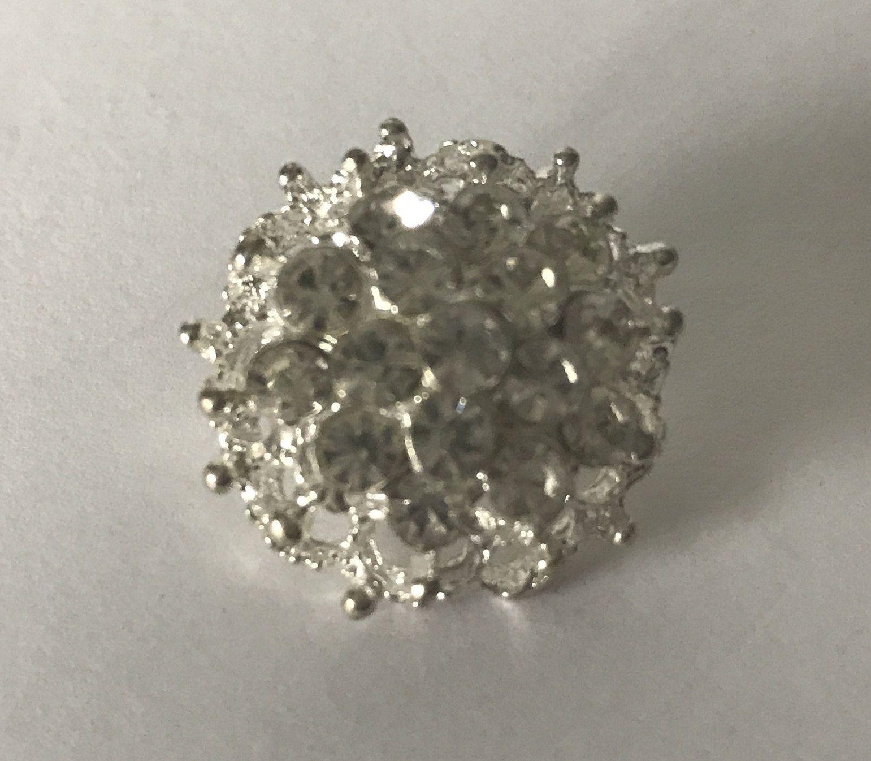 572d1de53c Vintage small rhinestone pin, rhinestone brooch, wedding pin, bridal ...