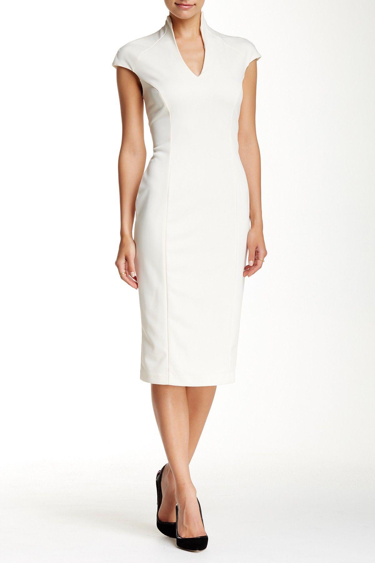 Alexia Admor Scuba Midi Sheath Dress Nordstrom Rack V Neck Midi Dress Midi Sheath Dress Sheath Dress [ 1800 x 1200 Pixel ]