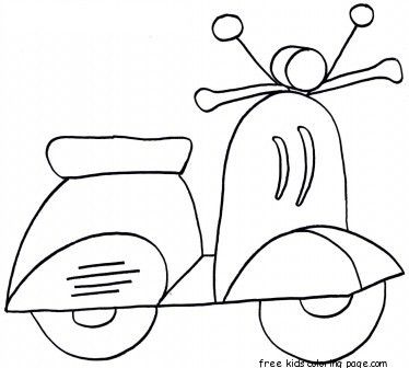 Printable Scooter Colouring Sheets For Kids Coloring Sheets For Kids Free Motion Embroidery Art Drawings For Kids