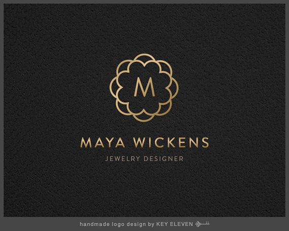 Premade Jewelry Logo Design Gold Designer Branding Add Ons Available Favicon Watermark Psd Eps Black White Version Keld030
